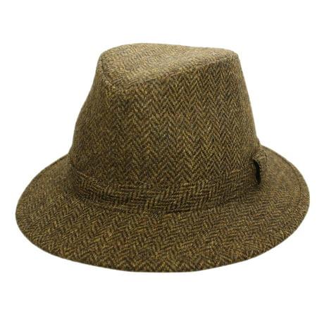 929ff02824b50 biddy-murphy - new fedora hat for men 100% wool black made in ireland john  hanly - Walmart.com