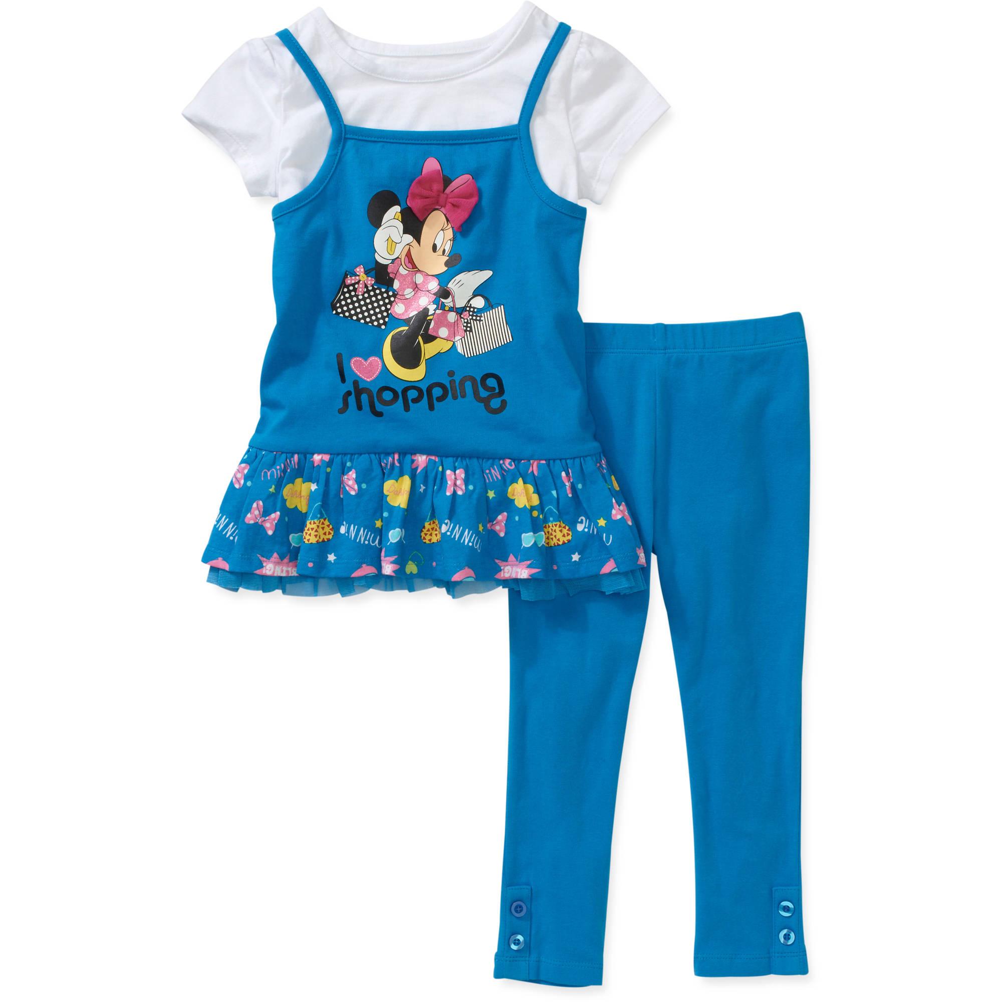 Disney Baby Girls 2-Piece Minnie Tunic and Legging Set