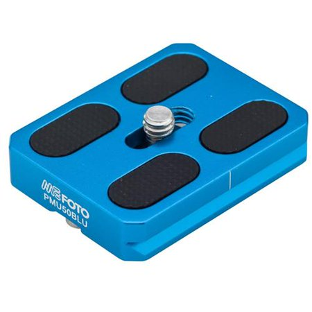MeFOTO Camera Quick Release Plate for RoadTrip and GlobeTrotter Air Tripods, Blue