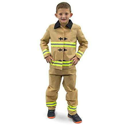 Boo! Inc. Fearless Firefighter Children's Halloween Dress Up Roleplay - Costume With White Dress