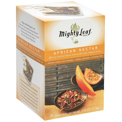 Generic Mighty Leaf Whole Leaf Organic African Nectar Tea Pouches, 15 count, (Pack of 6)