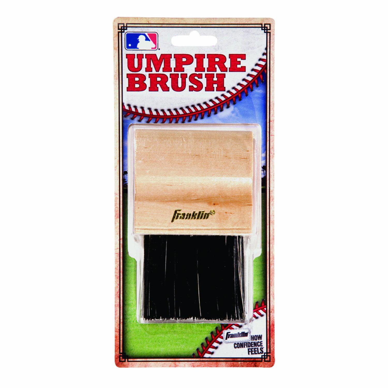 "Franklin Sports Mlb Baseball Softball Umpire's Wooden 4"" Base Plate Brush 2756 by Franklin Sports"