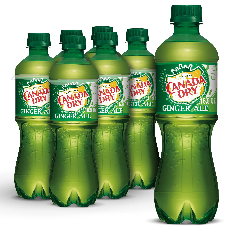 Canada Dry Ginger Ale Soda, .5 L bottles, 6 pack - Walmart.com - Walmart.com