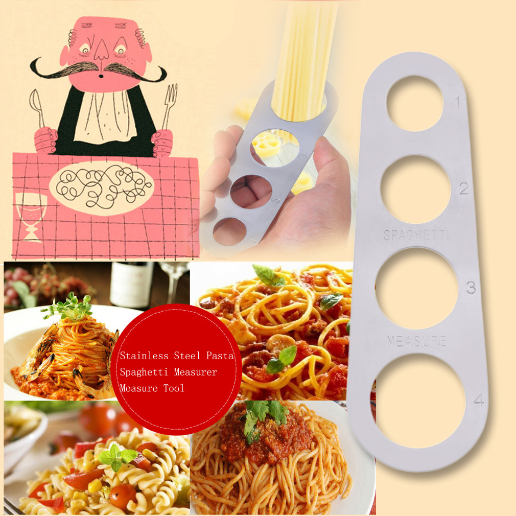 New Stainless Steel Pasta Spaghetti Measurer Measure Tool Kitchen Gadget