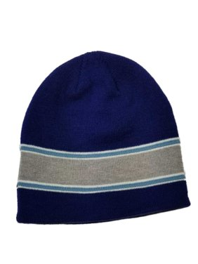 db16c2cde62 Product Image Men s Blue with Grey Stripe Beanie Stocking Cap Hat