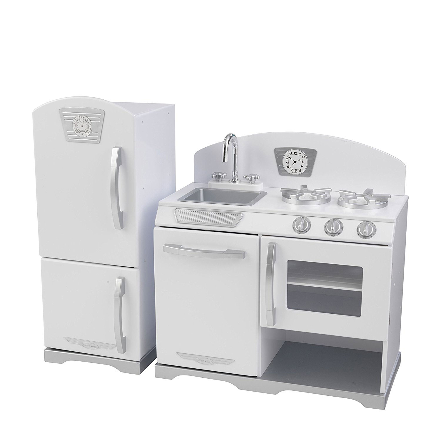 KidKraft 2 Piece Wooden Retro Kitchen Cooking Pretend Play Set Kids Toy,  White - Walmart.com