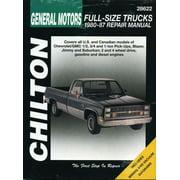 Chilton's Total Car Care Repair Manuals: GM Full-Size Trucks, 1980-87 (Paperback)