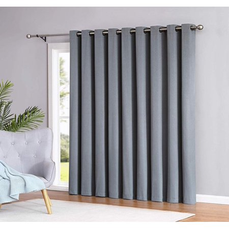 Madison 100% Blackout Curtain Patio Newly Innovated Eco Friendly Light Weight Fabric with Grommets Heat and Light Blocking Drapes (Patio 110