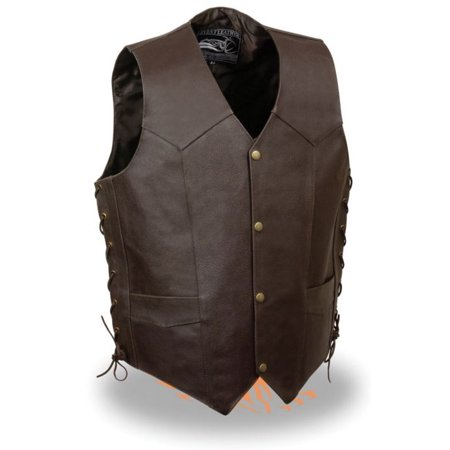 Milwaukee Leather Event Mens Side Lace Live to Ride Vest w/ Flying Eagle