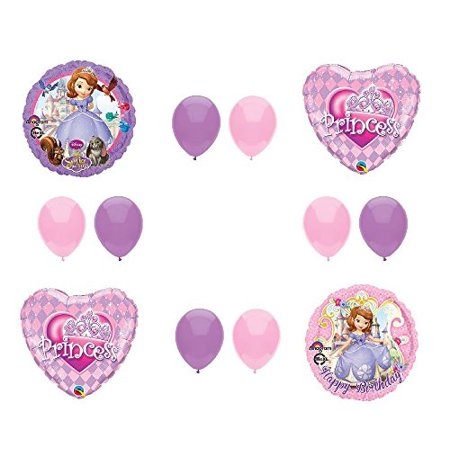 Disney's SOFIA THE FIRST PRINCESS Happy Birthday PARTY Balloons Decorations Supplies by Anagram - Sofia The First First Birthday