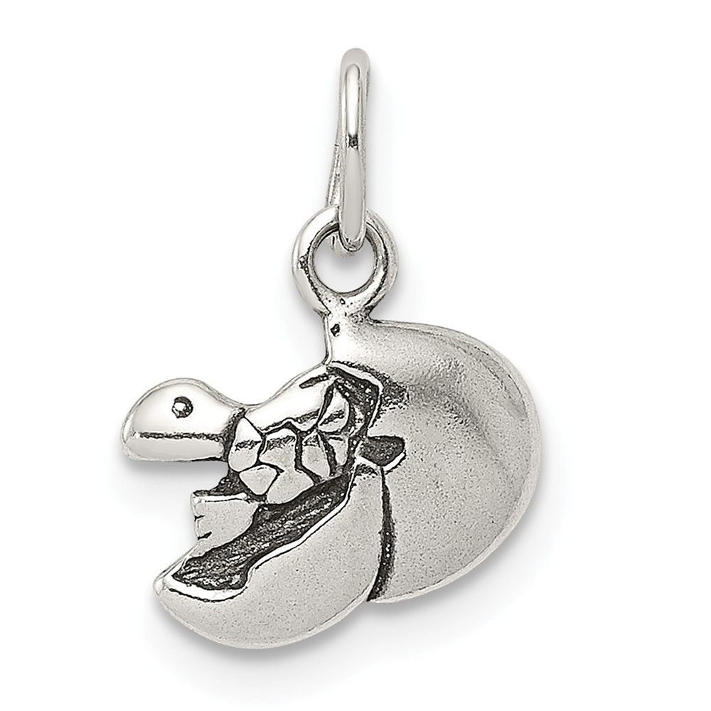 925 Sterling Silver Baby Turtle In Egg Pendant