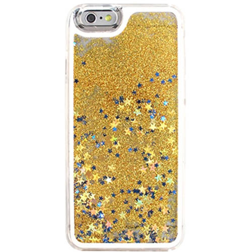 KIKO Wireless Glitter Shake Star Dust Crystal Hard Clear Case Cute Fashion Sturdy Thermoplastic Shock Absorption Anti-Scratch Cover Trendy Ultimate Protection for Apple iPhone 7