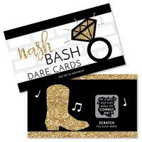 Nash Bash - Nashville Bachelorette Party Game Scratch Off Dare Cards - 22 Count