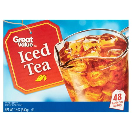 (3 Boxes) Great Value Iced Tea Bags, 12 oz, 48