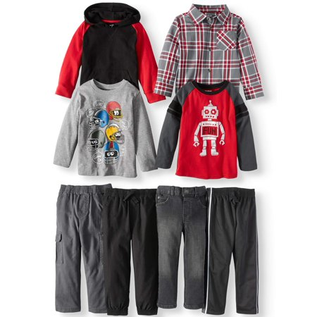 Mix & Match Outfits Kid-Pack Gift Box, 8pc Set (Toddler Boys)