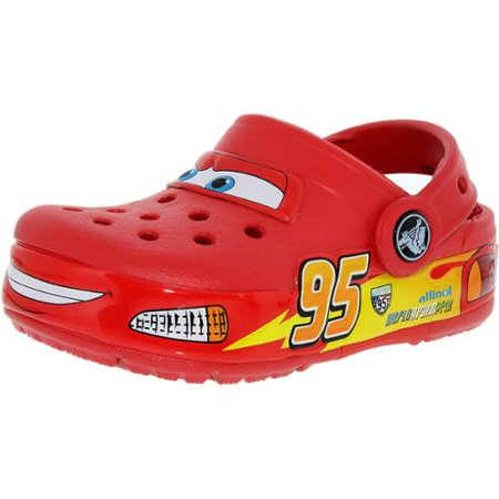 728b011bec8cc3 ... UPC 887350127041 product image for Crocs Boy s Kids Crocslights Cars  Red Ankle-High Rubber Flat ...