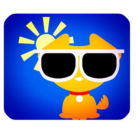 MKHERT Funny Dog In Sunglasses Rectangle Mousepad Mat For Mouse Mice Size 9.84x7.87 inches](Funny Sunglasses)