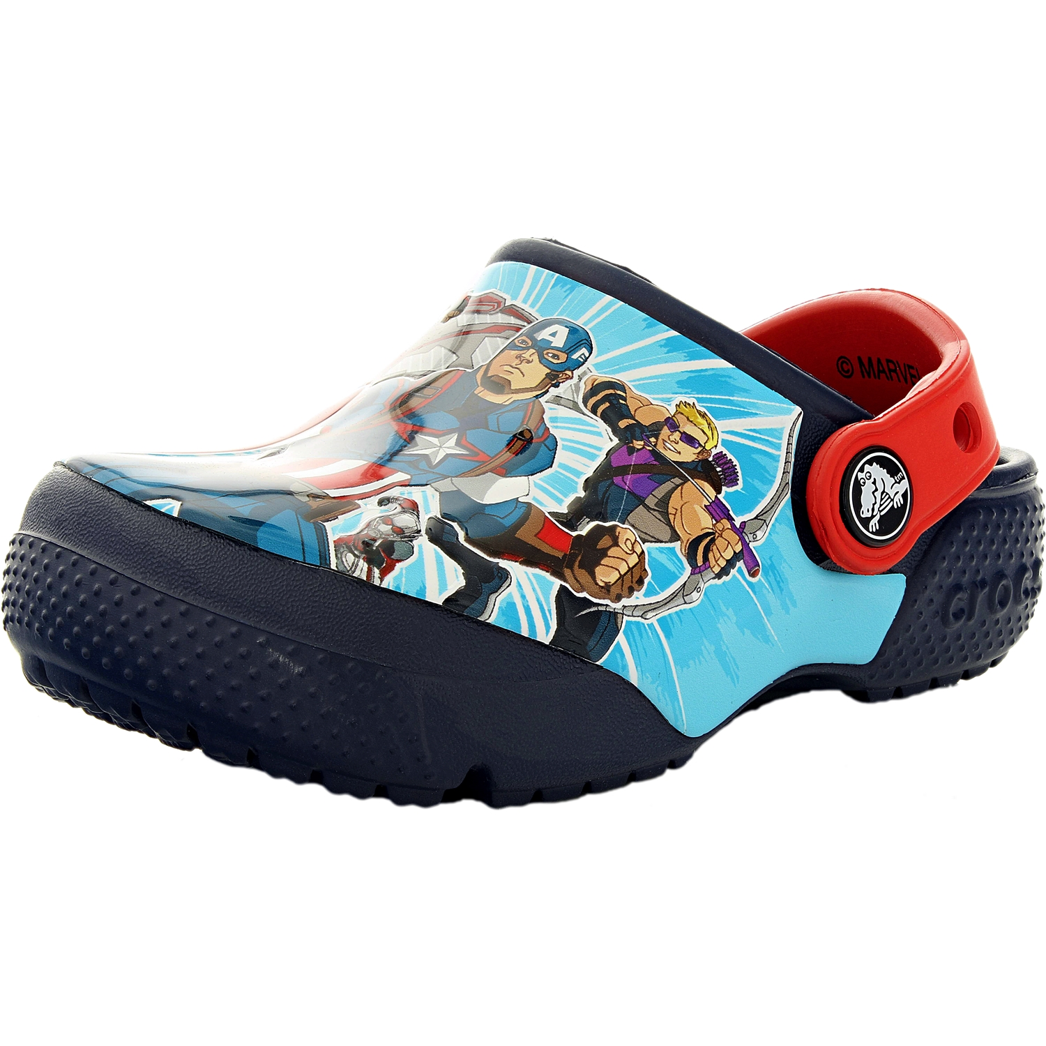 Crocs Boy's Crocsfunlab Marvel Avengers Navy Ankle-High Flat Shoe 5M by Crocs