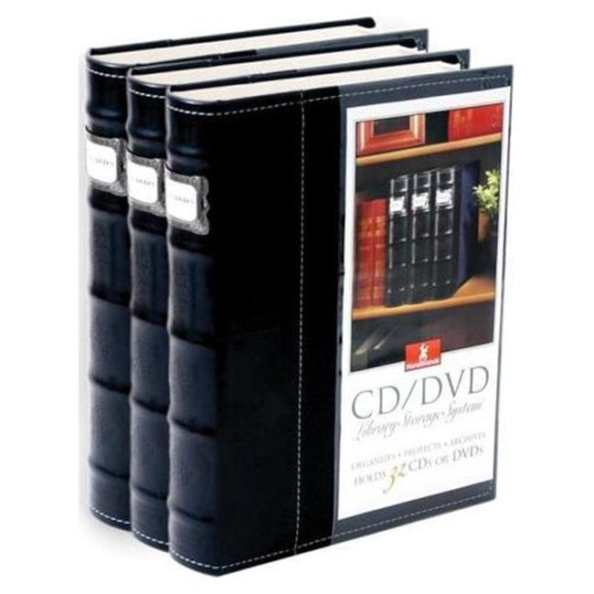 HandStands 11307PACK3 Bellagio-Italia CD-DVD-Blu-Ray Binder Storage System- 3 Pack Black