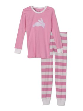 Sara's Prints Kids Pajamas Boys and Girls Long Sleeve Top and Pants Sleepwear Set, Red Stripe/Reindeer, Size: 8