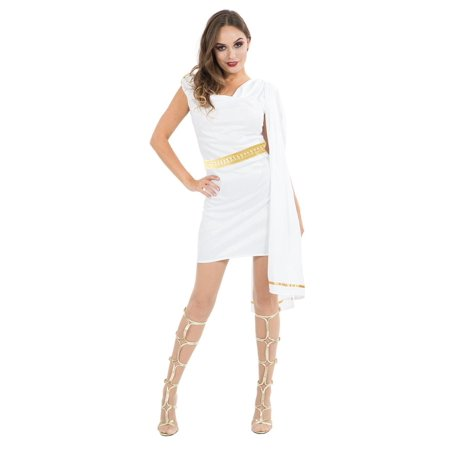 Women's Roman Costume Toga - White
