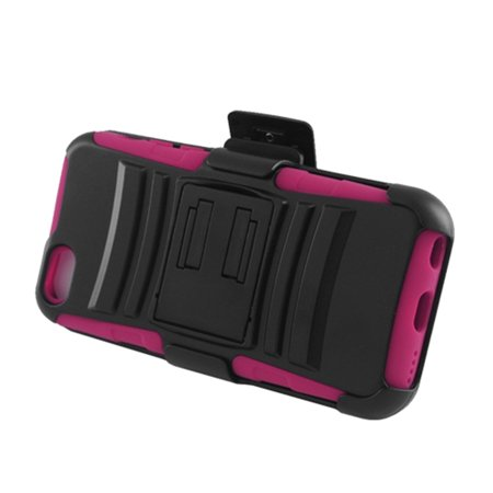 Insten Advanced Armor Dual Layer Hybrid Stand PC/Silicone Holster Case Cover for Apple iPhone