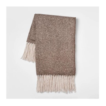 Mohair Throw Blanket (Threshold Faux Mohair Twill Throw Blanket, Dimensions: 60 Inches Length, and 50 Inches Width, Neutral)