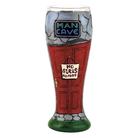 - Man Cave Lolita Pilsner Glass, Multicolor, Lolita licensed hand painted pilsner beer glass with humorous saying on the inside bottom of glass By Santa Barbara Design Studio Ship from US