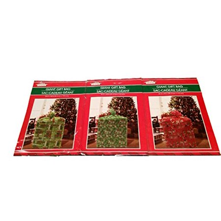 Giant Gift Bags (Giant Holiday Gift Bag 3 Pack 36 in x 44 in (Green &)