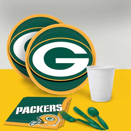 Green Bay Packers Tableware Party Pack for 16 (Packer Party Supplies)