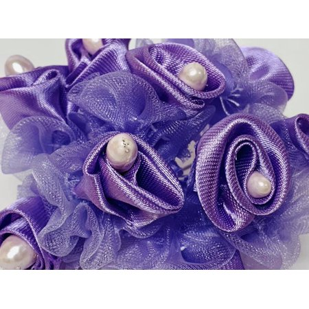 Lavender Pearl Craft Flowers DIY Projects 8 Bunch For Wedding Birthday Sweet 16 Party (8 Birthday Flowers)