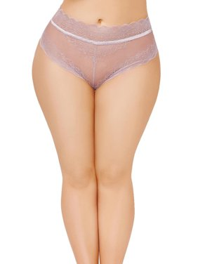 83872948c72 Product Image Plus Size High Waisted Lace Trim Lace Up Back Panty Underwear