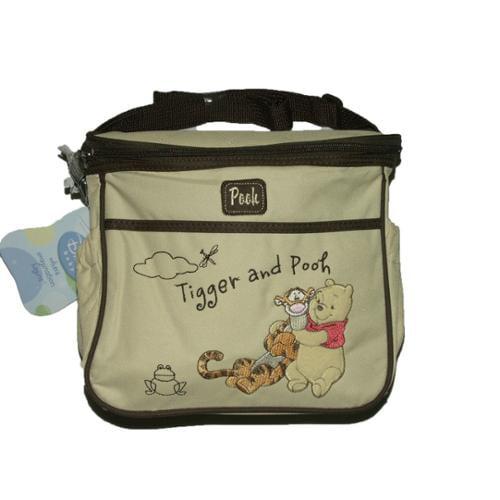 Disney Pooh & Friends Zip Top Pockets Girls Boys Cream Khaki Mini Diaper Bags