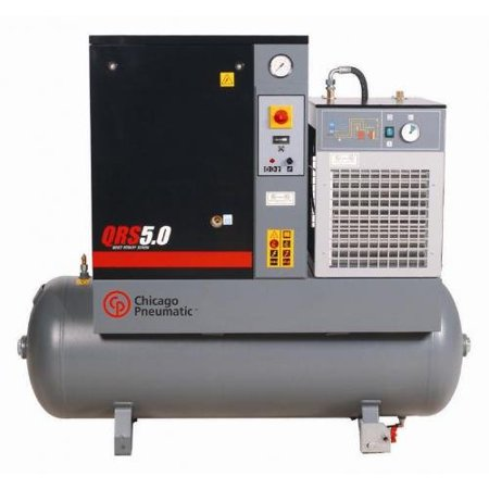 CHICAGO PNEUMATIC QRS 5 HPD Rotary Screw Air Compressor w/Air