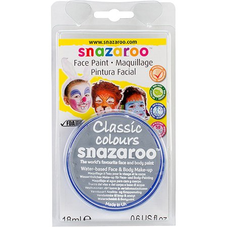 WINSOR & NEWTON / COLART 1119122 SNAZAROO FACE PAINT 18ML CLAM PACK LIGHT GREY (Snazaroo Face Painting Kit Halloween)