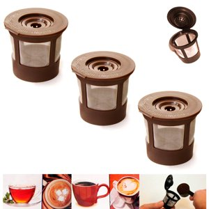 3X Reusable Single K Cups Keurig Coffee Machine Refillable Stainless Filter Pods