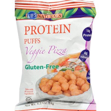 Halloween Veggie Pizza (Kay's Naturals Protein Puffs - Veggie Pizza - Pack of 6 - 1.2)