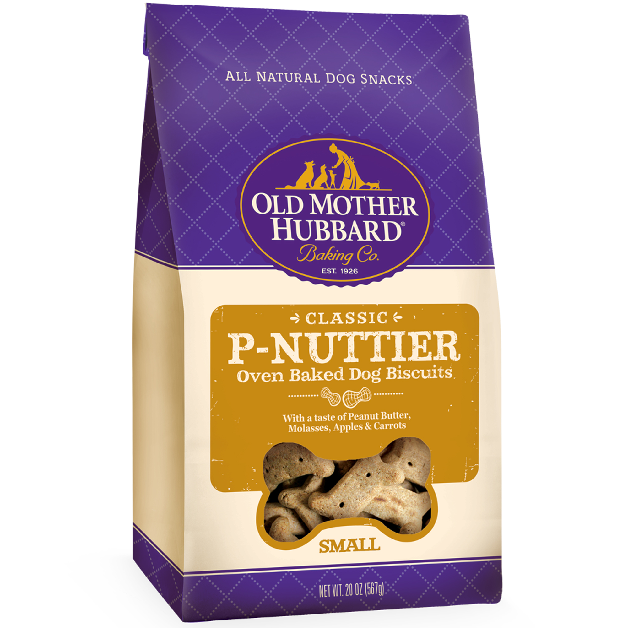 Old Mother Hubbard Classic P-Nuttier Small Peanut Butter Dog Treats, 20 Oz