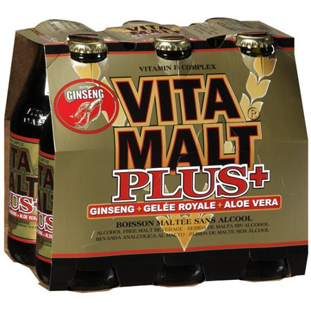Vita Malt Plus Ginseng  Gelee Royale  Aloe Vera Alcohol Free Malt Beverage  11 2 Oz  6 Ct