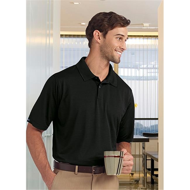 Bermuda Sands 755 Mens Shadow Performance Polo - Black, 3X