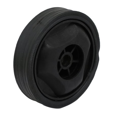 Compressor Part Replacement - 122mm Dia Plastic Replacement Parts Wheel Casters Black for Air Compressor