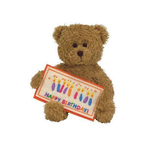 Ty Happy Birthday - Gold Bear