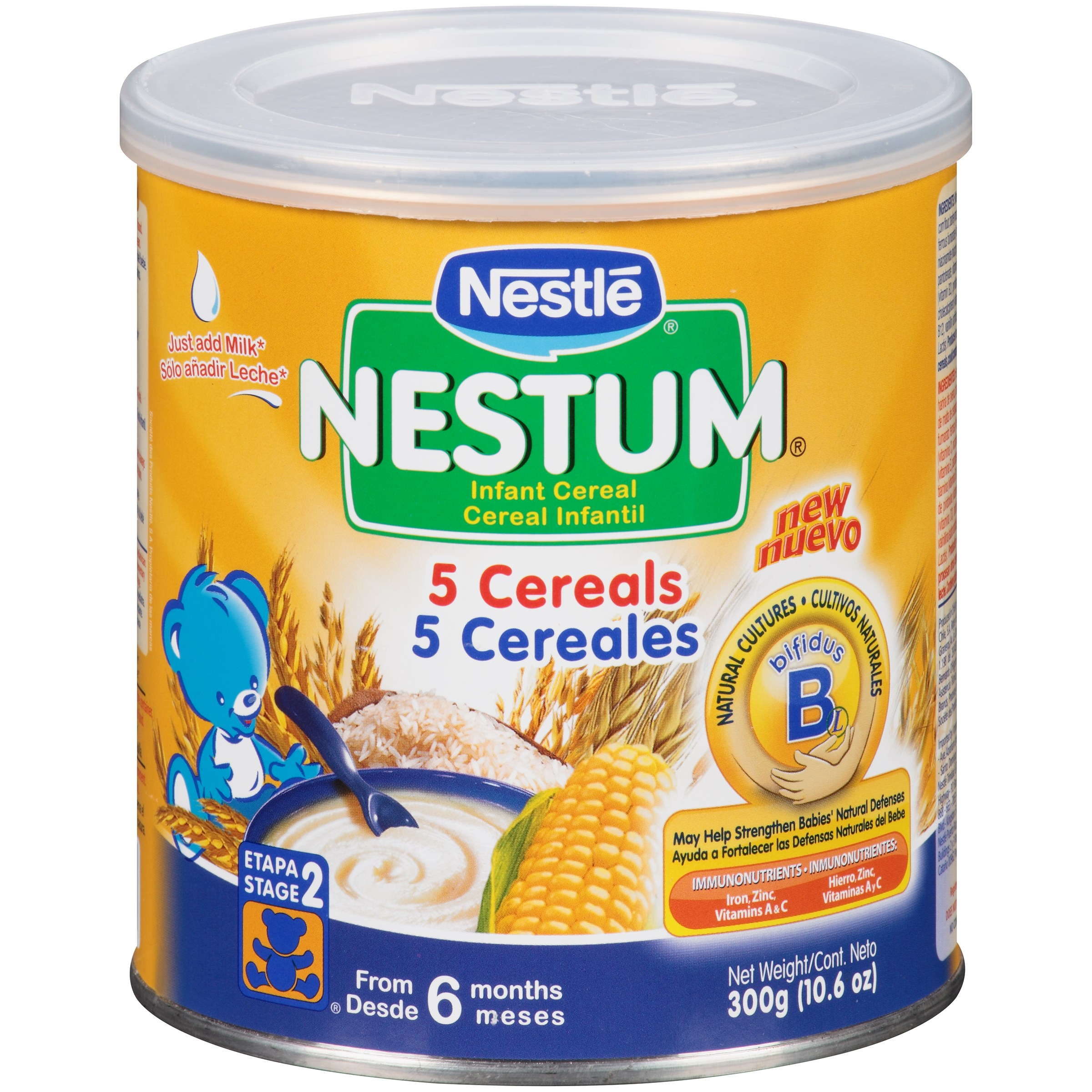 Nestle® Nestum® 5 Cereals Infant Cereal 10.6 oz. Canister