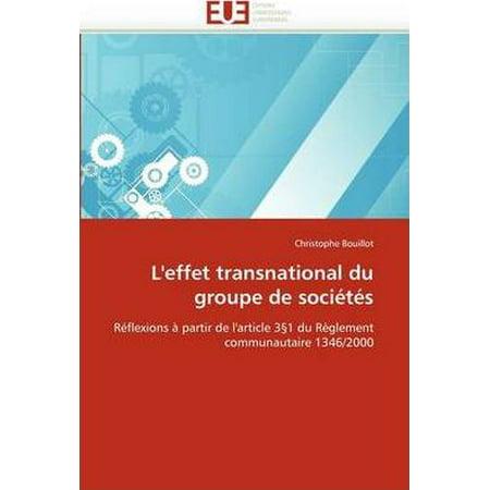 Leffet Transnational Du Groupe De Soci T S