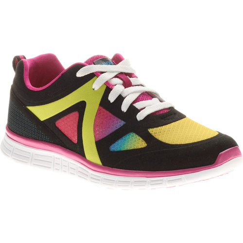 Danskin Girl's Black Rainbow Reflective Sneaker