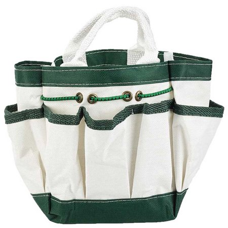 Canvas Garden Tote with 7 Pockets White 9 in. X 6 in. :  ( Pack of  1 Pc -