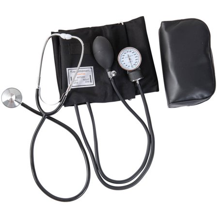 HealthSmart Home Blood Pressure Kit with Manual Sphygmomanometer, Stethoscope and Carrying Case, Large Adult Cuff, 1