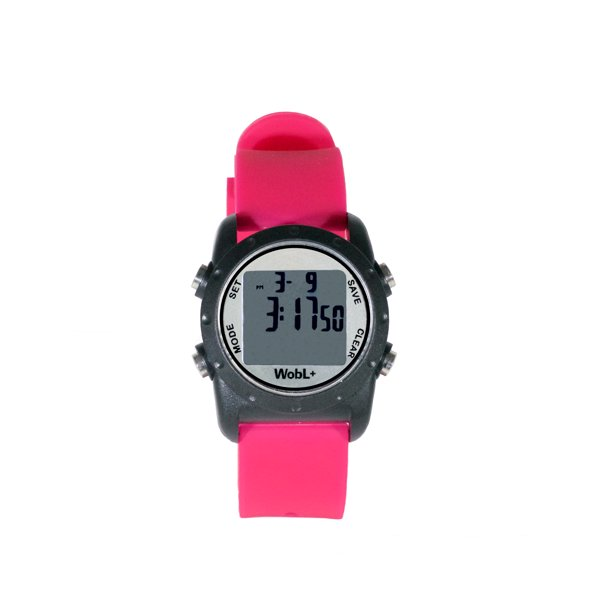 Smallest Vibrating Waterproof Reminder Watch (Pink Band / Black Case)