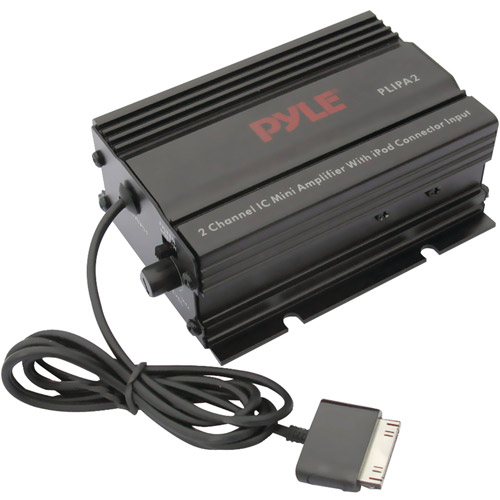 Pyle PLIPA2 2-Channel Mini Amplifier with iPod Direct Input
