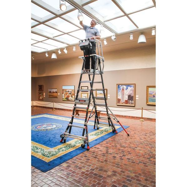 Little Giant Cage Fiberglass 5 9 Ladder Walmart Com